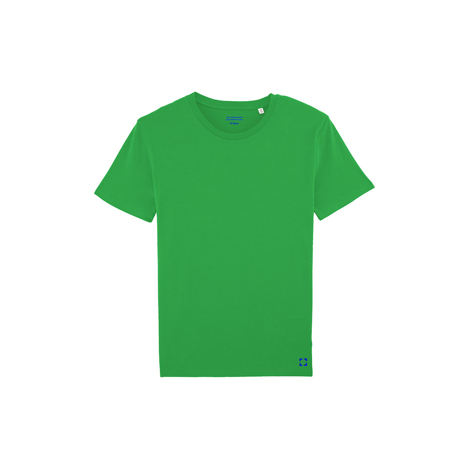 Morgan - la base packshot of a pure-green usinex t-shirt in organic coton for women and men