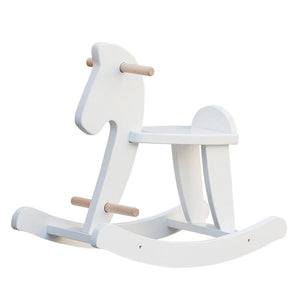 Wooden Rocking Horse - Pristine White
