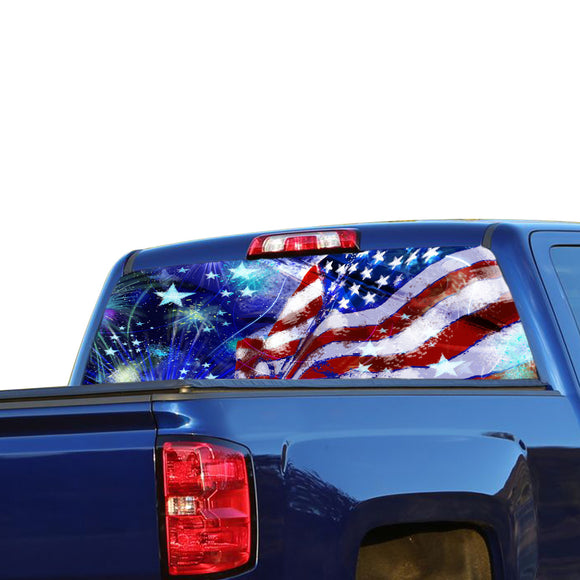 USA Stars Perforated for Chevrolet Silverado decal 2015 - Present