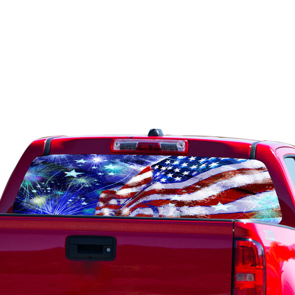 USA Stars Perforated for Chevrolet Colorado decal 2015 - Present