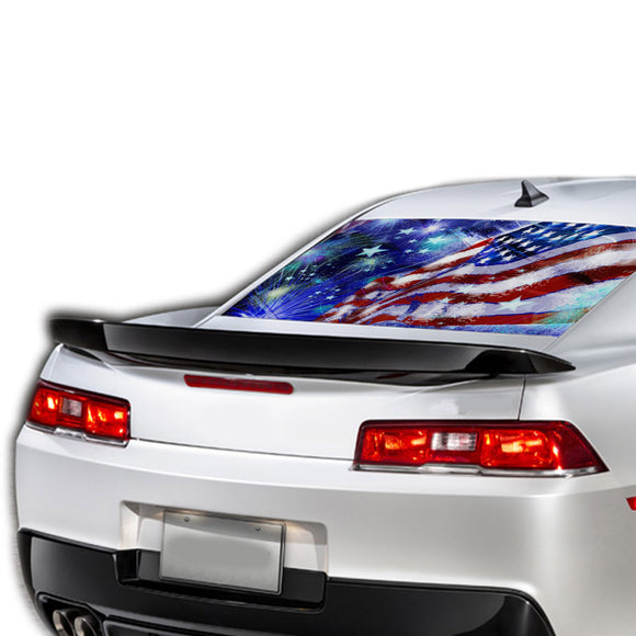 USA Stars Perforated for Chevrolet Camaro decal 2015 - Present