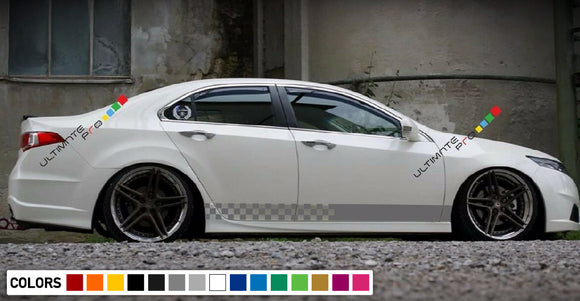 Decal Sticker Side Racing Stripe Kit Compatible with Honda Accord 2013-Present