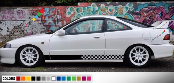 Decal Sticker Side Racing Stripes Compatible with Honda Integra 2010-Present