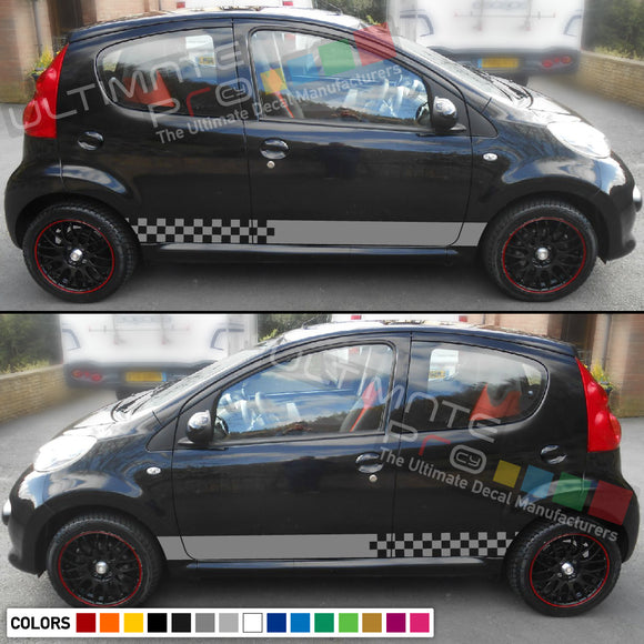 Decal Vinyl Side Racing Stripes Compatible with Peugeot 107 2005-2014