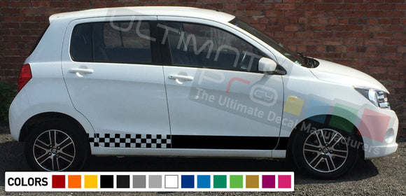 Decal Sticker Side Racing Stripes Compatible with Suzuki Celerio 2008-Present