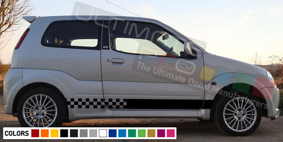 Decal Sticker Side Racing Stripes Compatible with Suzuki Ignis 2008-Present