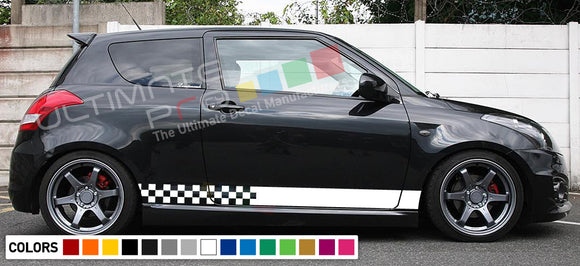 Decal Sticker Vinyl Side Racing Stripes Compatible with Suzuki Swift 2008-Present