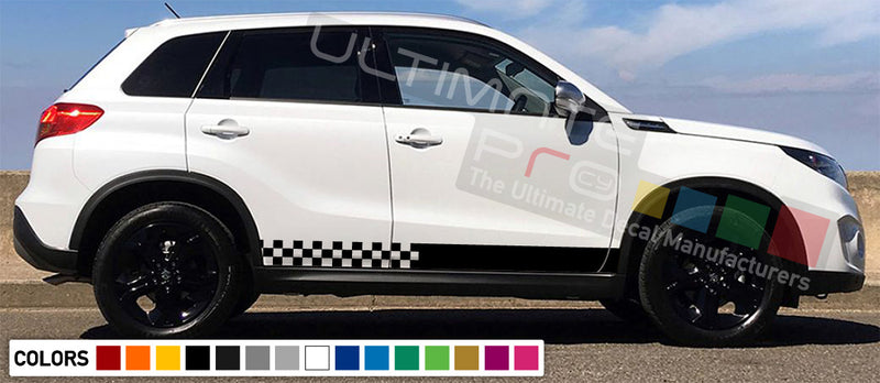 Decal Sticker Side Racing Stripes Compatible with Suzuki Vitara 2008-Present
