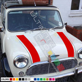 Hood Decal Sticker Graphic Compatible with Mini Classic