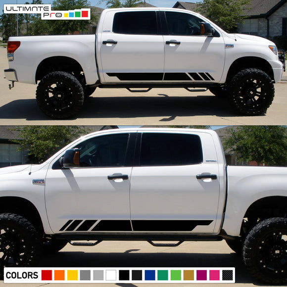 Mountain Stripes Sticker Graphic Compatible with Toyota Tundra 2007-Present