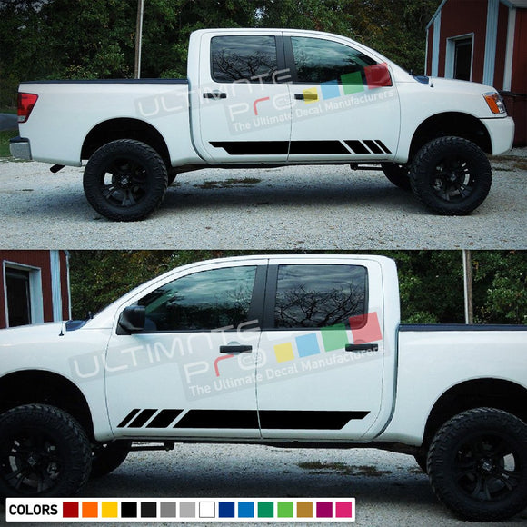 Decal Racing Stripes Compatible with Nissan Titan 2003-Present