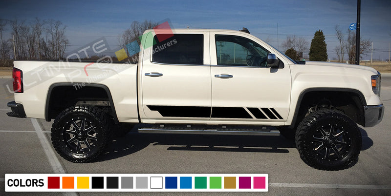 Decal Sticker Vinyl Side Stripe Kit Compatible with GMC Sierra 2014-Present
