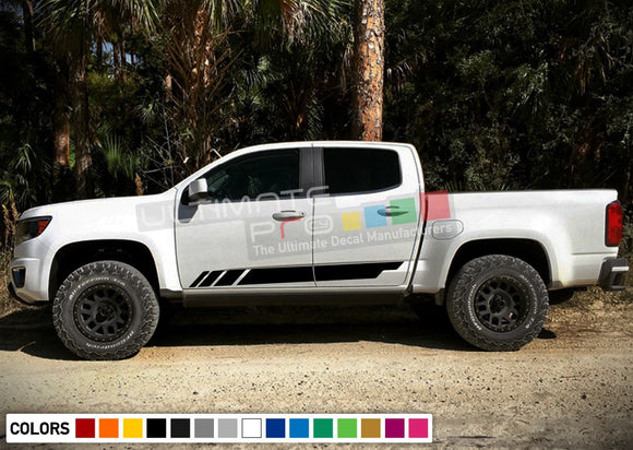 Side sticker door, vinyl design for Chevrolet Colorado decal 2012 - Present