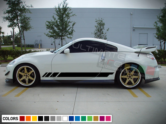 Decal Side Racing Stripes Compatible with Nissan 350 Z Fairlady Z 2002-Present