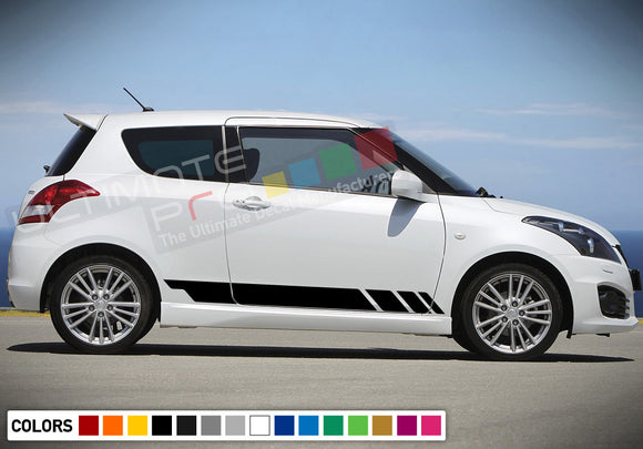 Decal Sticker Side Racing Stripes Compatible with Suzuki Swift 2008-Present