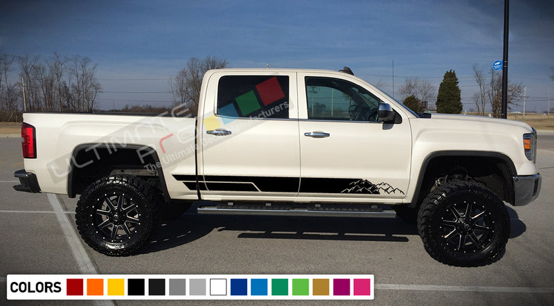 Decal Sticker Vinyl Mountains Stripe Kit Compatible with GMC Sierra 2014-Present