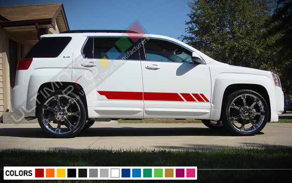 Decal Sticker Side Racing Stripes Compatible with GMC Terrain 2010-Present