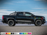 Side sticker mountain, vinyl design for Chevrolet Colorado decal 2012 - Present