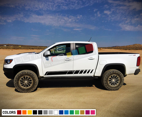 Decal Sticker , vinyl design for Chevrolet Colorado decal 2012 - Present