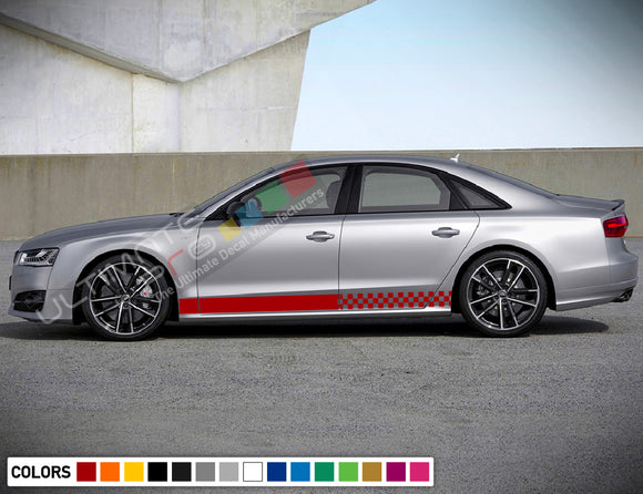 Decal Sticker Vinyl Stripe Kit Compatible with Audi A8 2008-Present