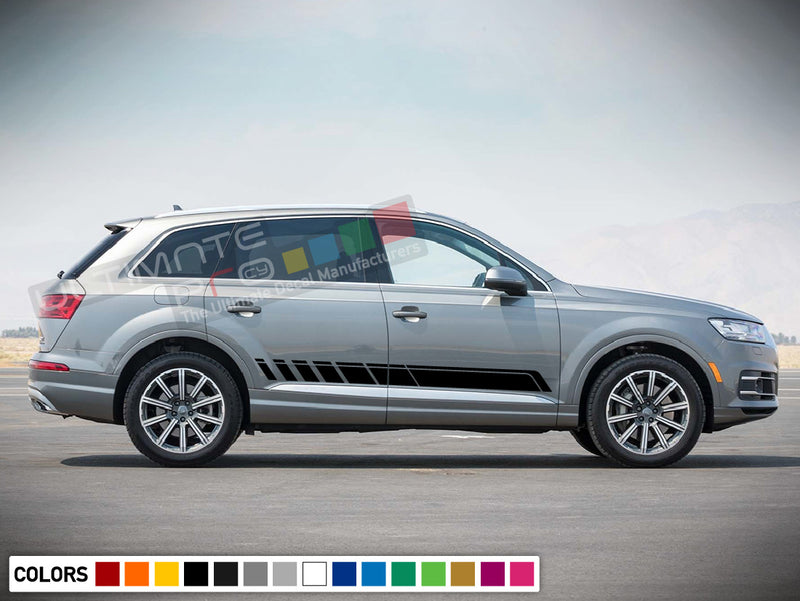 Decal Sticker Stripe Kit Compatible with Audi Q7 2008-Present