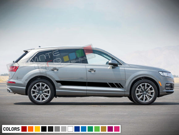 Decal Sticker Stripe Vinyl Kit Compatible with Audi Q7 2008-Present
