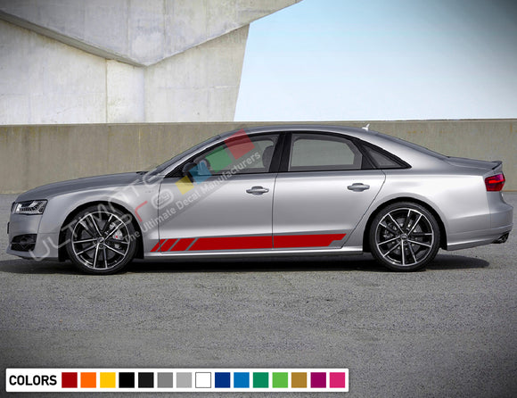 Copy of Decal Sticker Stripe Kit Compatible with Audi A8 2008-Present