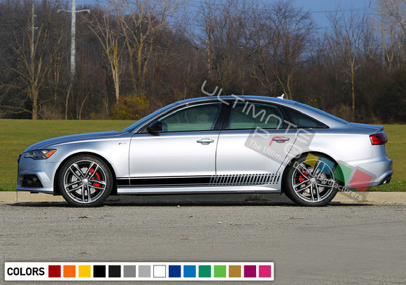 Decal Sticker Stripes Kit Compatible with Audi A6 2008-Present
