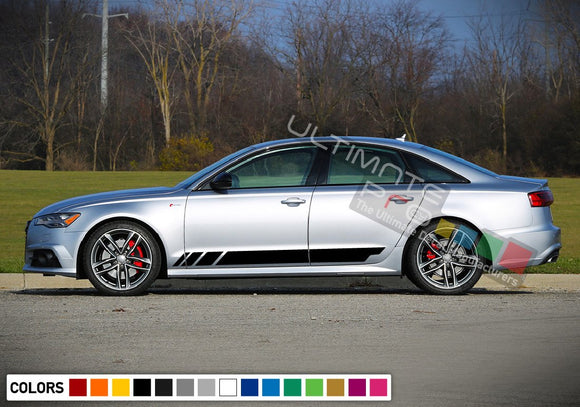 Decal Sticker Vinyl Stripe Kit Compatible with Audi A6 2008-Present