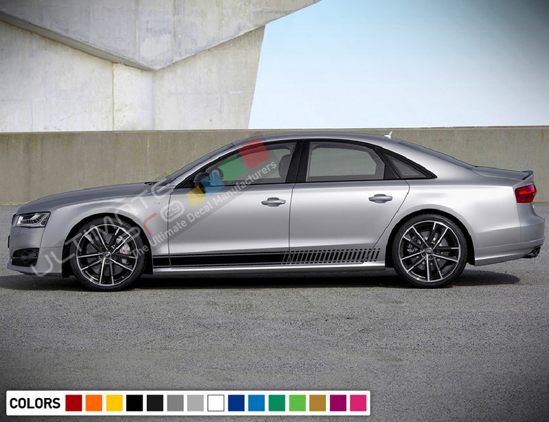 Decal Stickers Vinyl Stripe Kit Compatible with Audi A8 2008-Present