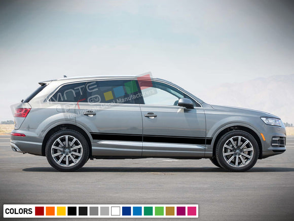 Decal Stickers Stripe Kit Compatible with Audi Q7 2008-Present