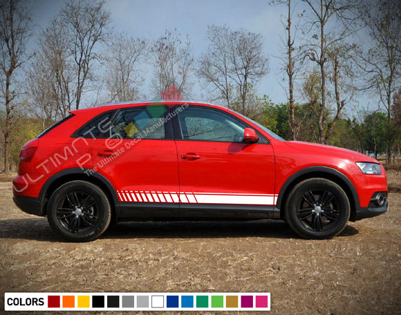 Decal Sticker Stripe Vinyl Kit Compatible with Audi Q3 2008-Present
