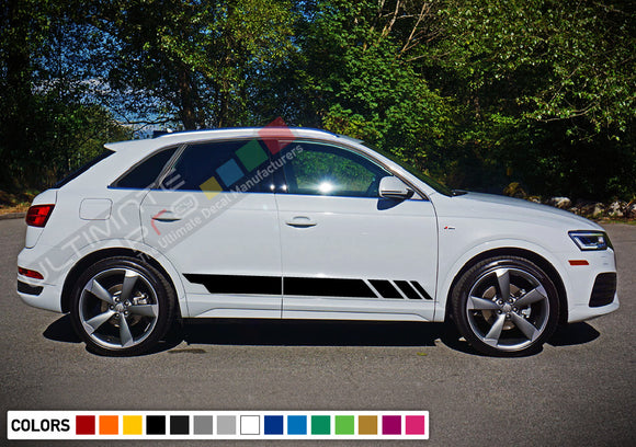 Decal Stickers Vinyl Stripe Kit Compatible with Audi Q3 2008-Present
