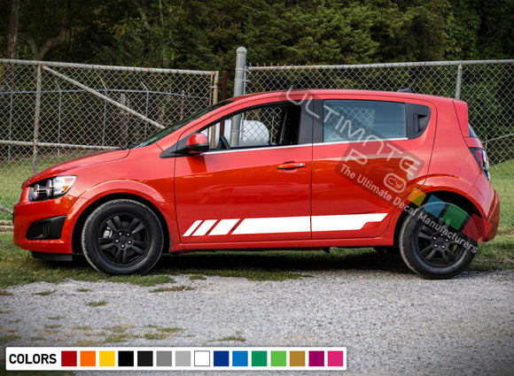 Decals Stripe design for Chevrolet Sonic decal 2015 - Present