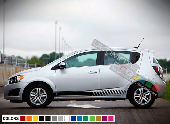 Decals Stripe Vinyl design for Chevrolet Sonic decal 2015 - Present