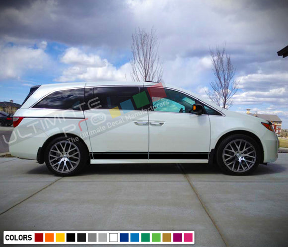 Decal Sticker Line Stripe Compatible with Honda Odyssey 2016-Present
