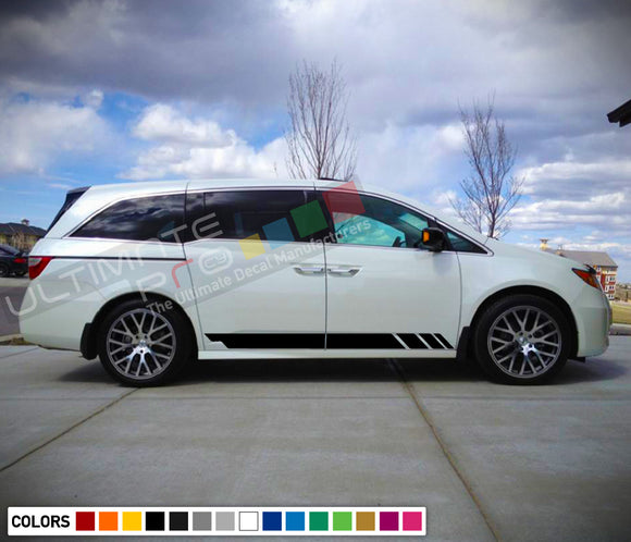Decal Stickers Stripe Compatible with Honda Odyssey 2016-Present