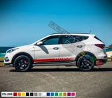 Decal Sticker Racing Stripe Compatible with Hyundai Santa Fe 2009-Present