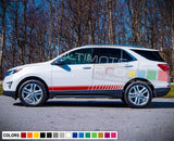 Stripe vinyl decal design for Chevrolet Equinox decal 2015 - Present