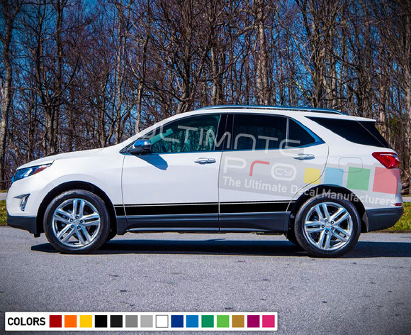 Stripe vinyl decals design for Chevrolet Equinox decal 2015 - Present