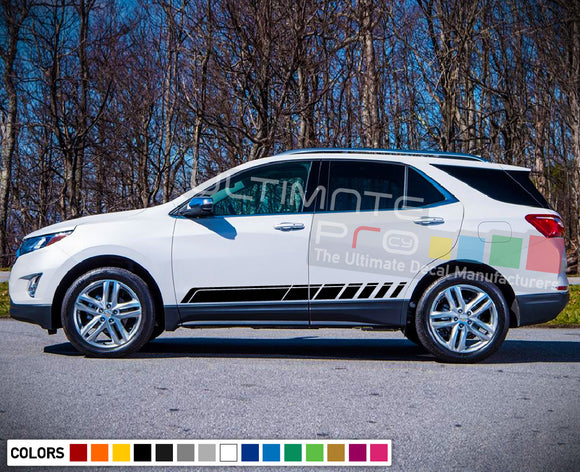 Stripe decals vinyl design for Chevrolet Equinox decal 2015 - Present