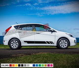 Decal Sticker Vinyl Side Racing Stripe Compatible with Hyundai Accent 2009-Present