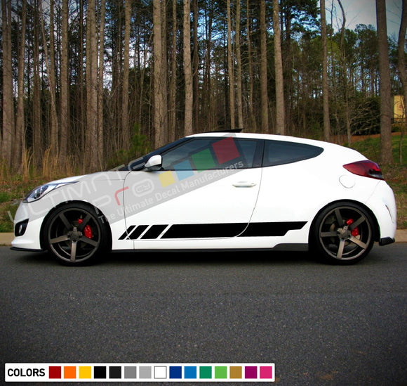 Decal Sticker Stripes Compatible with Hyundai Veloster 2009-Present