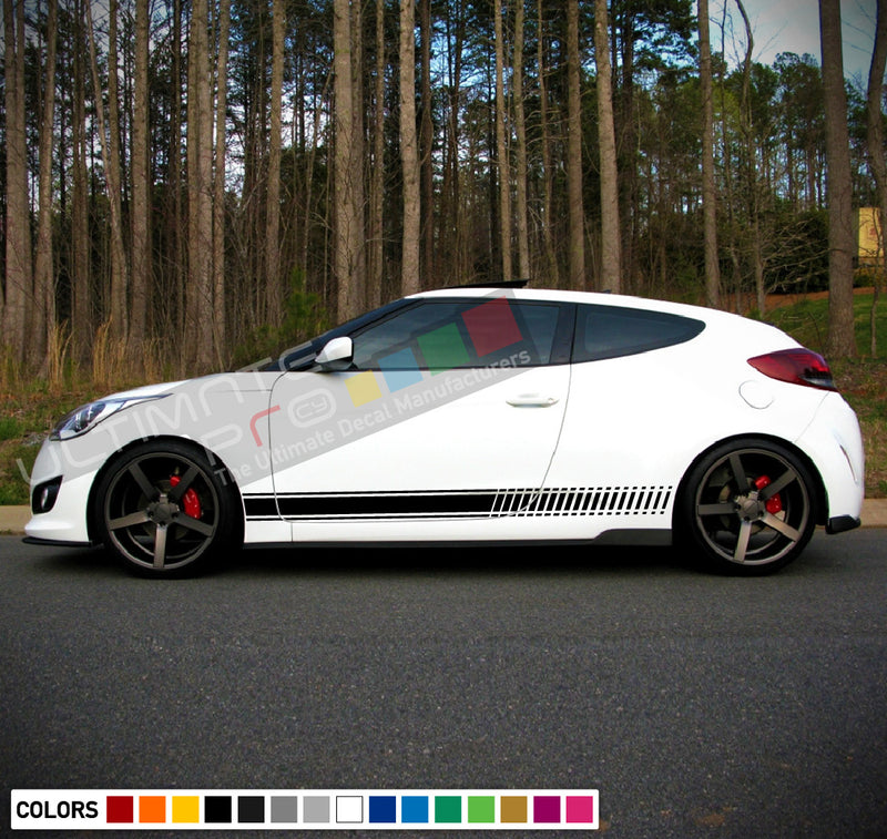 Decal Sticker Vinyl Stripes Compatible with Hyundai Veloster 2009-Present