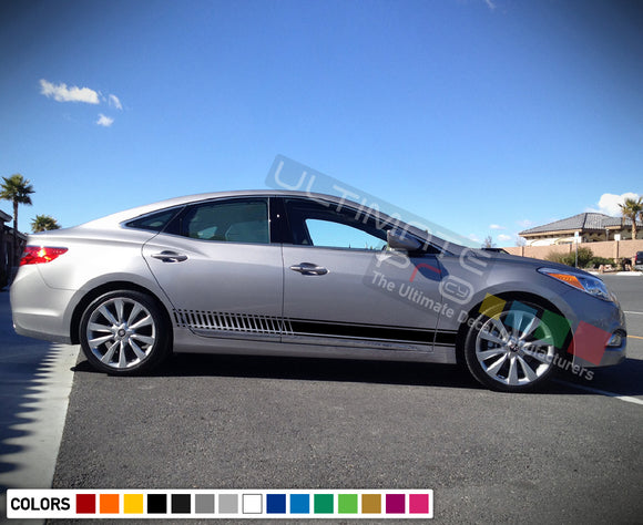 Decal Sticker Racing Stripe Compatible with Hyundai Azera 2009-Present
