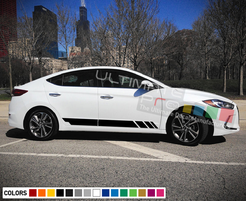 Decal Sticker Racing Stripe Compatible with Hyundai Elentra 2009-Present