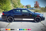 Racing Stripes Decal Vinyl Side For Dodge Avenger 2007 - Present