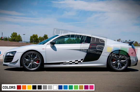 Decal Sticker Stripe Vinyl Kit Compatible with Audi R8 2008-Present