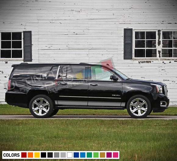 Decal Stickers Side Stripes Compatible with GMC Yukon 2010-Present