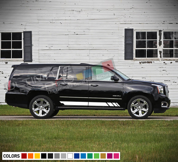 Decal Sticker Side Racing Stripes Compatible with GMC Yukon 2010-Present